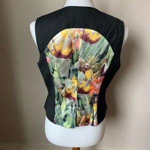 Ted Baker London Black Floral Back Vest